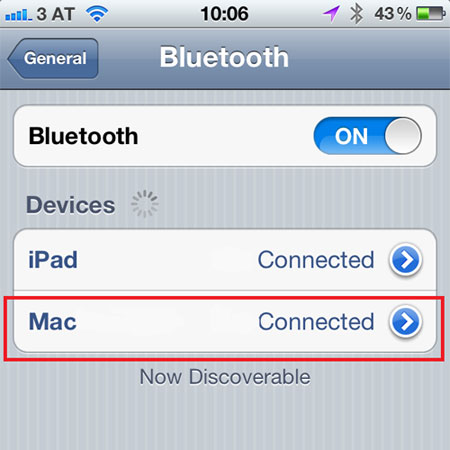 transfer iphone files bluetooth