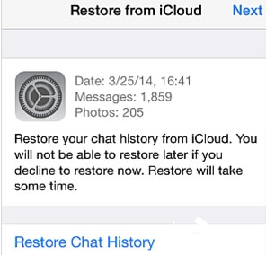 transfer whatsapp from icloud