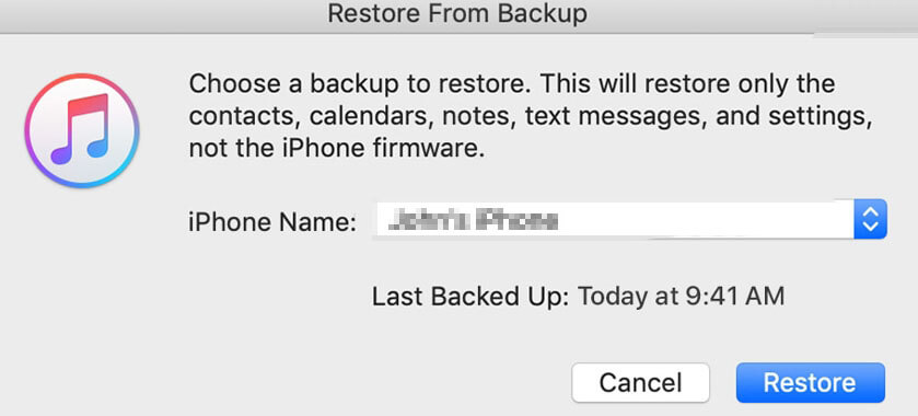 restore whatsapp messages on itunes