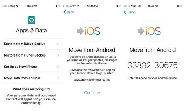 transfer whatsapp via Move to iOS