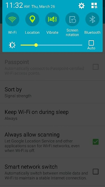 turn on Wi-Fi on Android