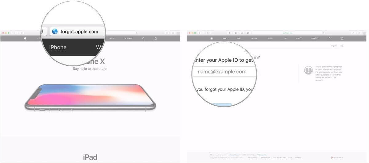 how to unlock my apple id with email