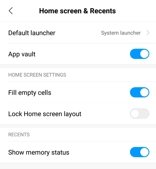 unlock redmi home screen layout