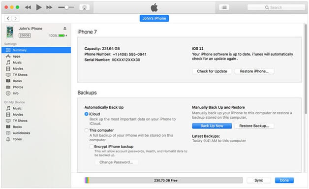 Update your iPhone with iTunes