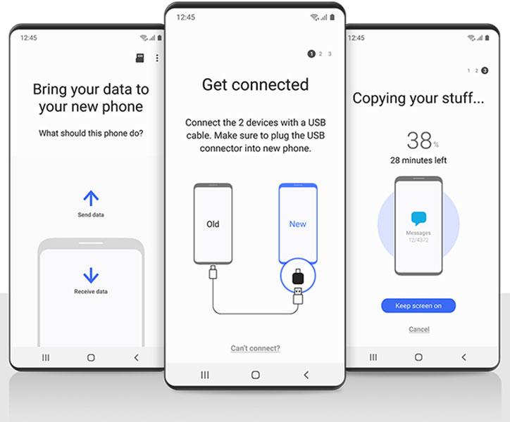transfer whatsapp data to Samsung phone using smart switch