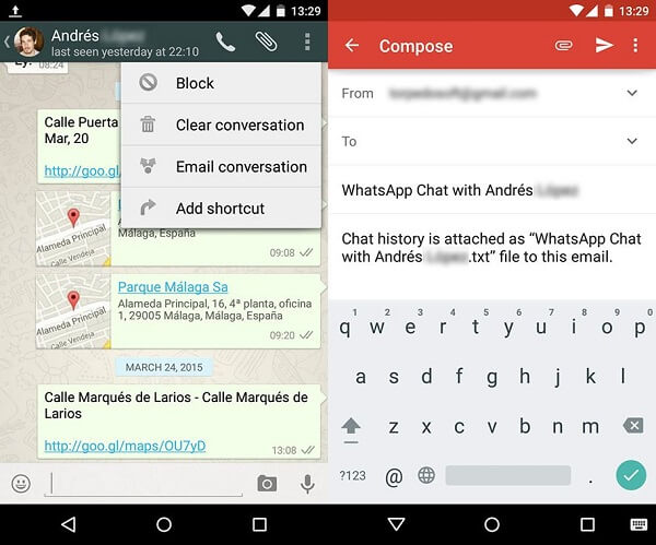 transfer whatsapp from android to iphone without pc