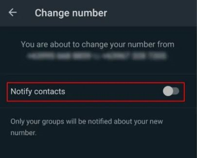 notify contact