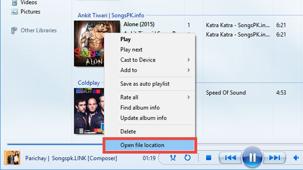 transfer music from windows media player
