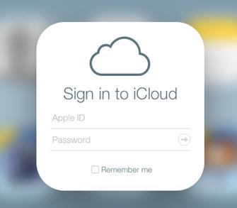 Sign into the iCloud account