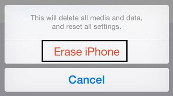 Click Erase Device to wipe iPhone