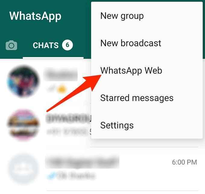 choose whatsapp web