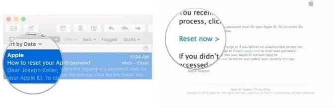 click reset now