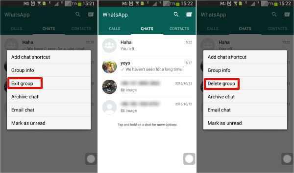delete a whatsapp message