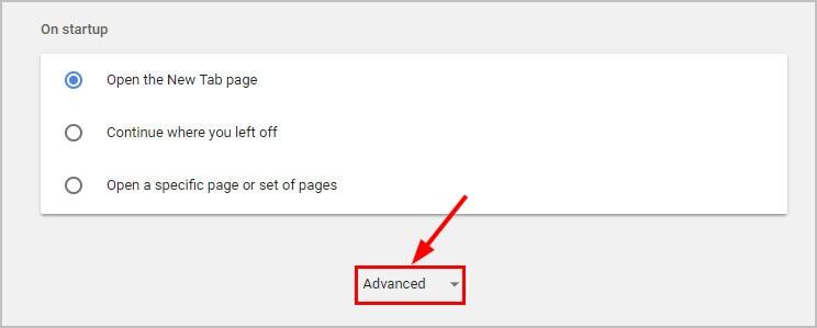 access advanced settings