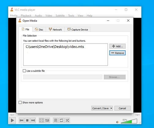 import .mts video