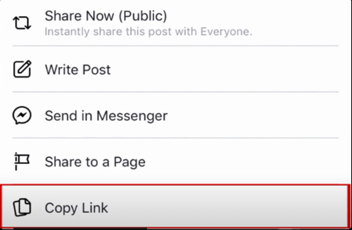 copy facebook videos to whatsapp