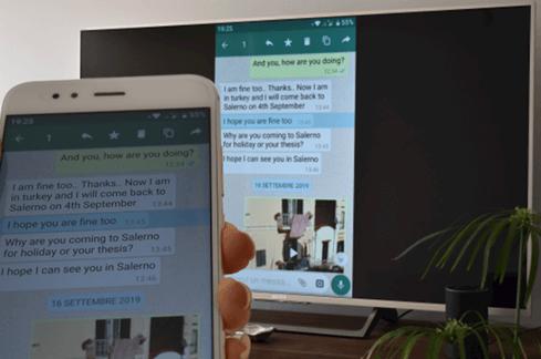 mirror whatsapp video call