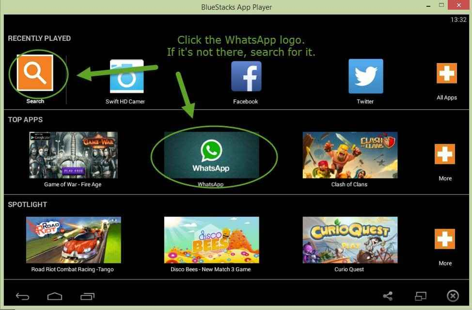 find and download whatsapp