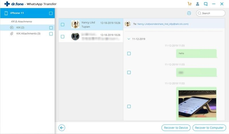 how to recover deleted kik messages