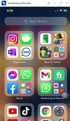 mirror iphone screen