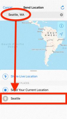 select an area