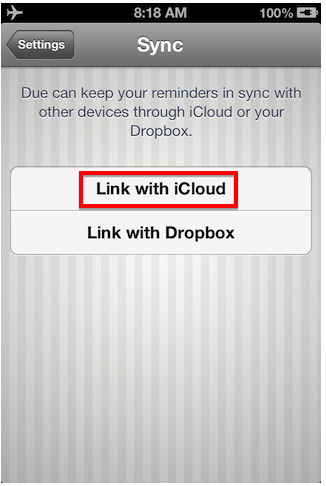 link with iCloud