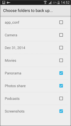 backup photos from android to cloud