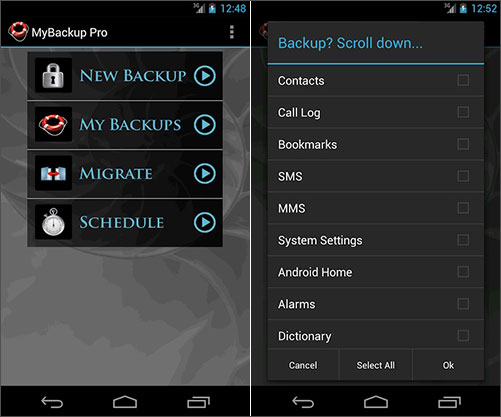 android backup wifi passwords