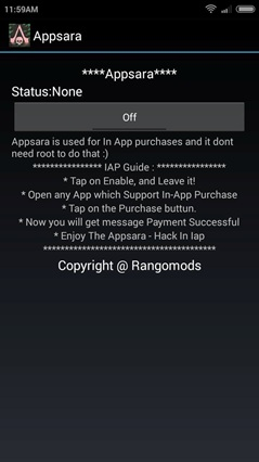 AppSara hack in-app purchase for android