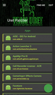 Uret Patcher hack in-app purchase for android