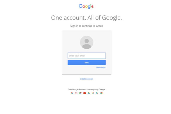 login to your gmail account on pc