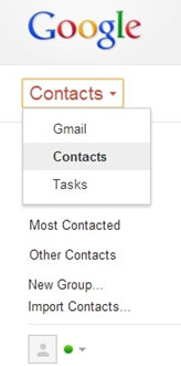 view backed up contacts in gmail