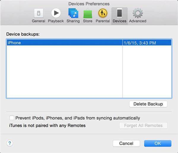 Steps to backup iphone to itunes