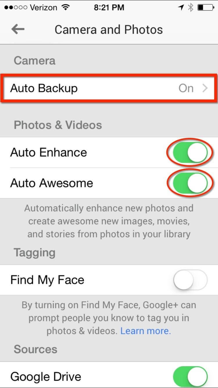 how to backup photos from iphone to google