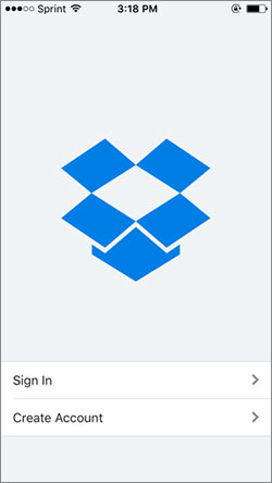 backup iphone to dropbox