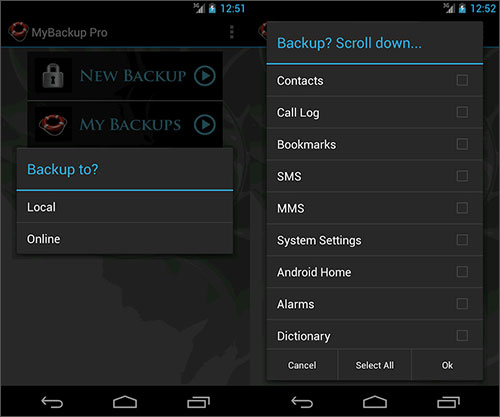 backup to sd card android