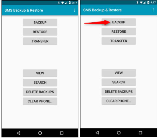 install android smsm backup app