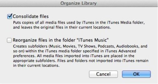 backup itunes library to usb