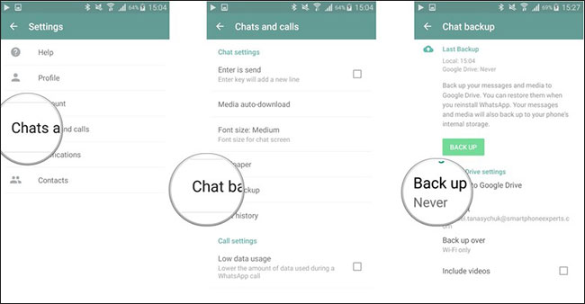 transfer whatsapp contacts
