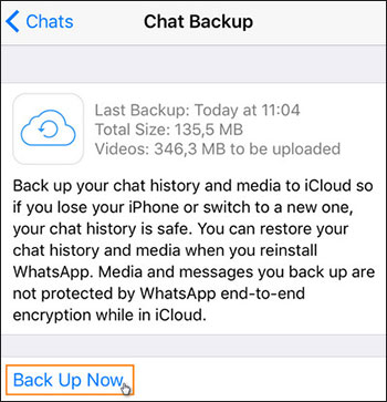 how to backup whatsapp contacts on iphone