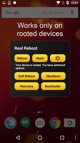 How can I remotely restart my Android phone
