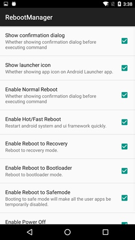 android restart app Reboot manager