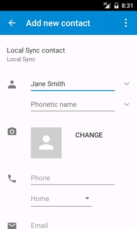 android contact app