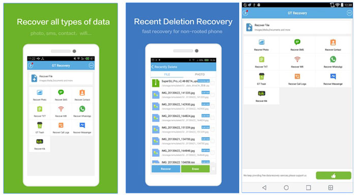 recover deleted contacts with android app