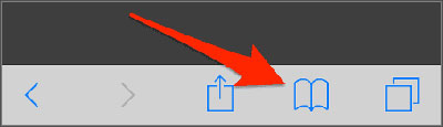 delete bookmark from iphone