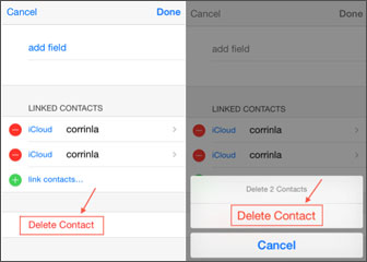 how to delete contacts from iphone