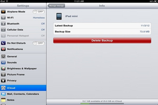 Remove ipad backup