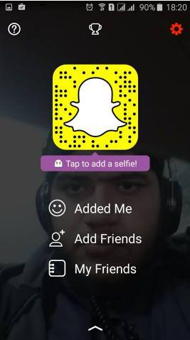 click the settings button of snapchat