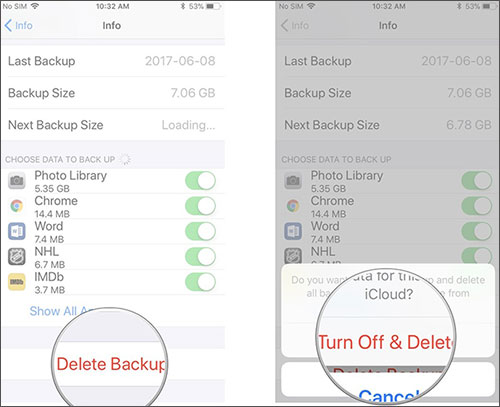 how to clear messages from icloud