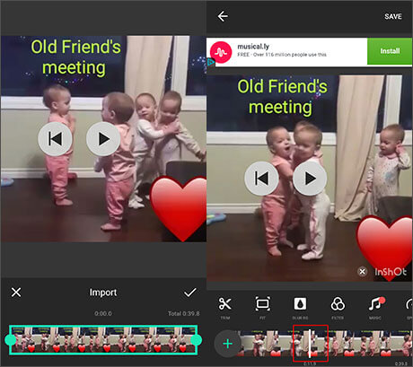 use inshot to edit videos on iphone